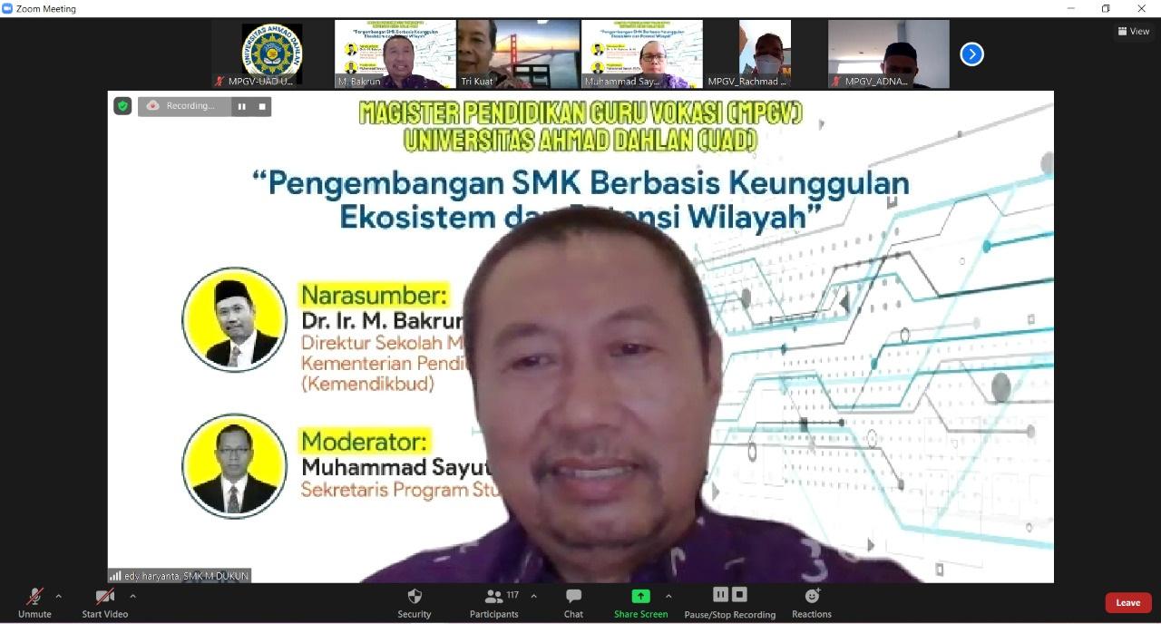 Pelaksanaan Kuliah Perdana MPGV UAD 20 Maret 2021